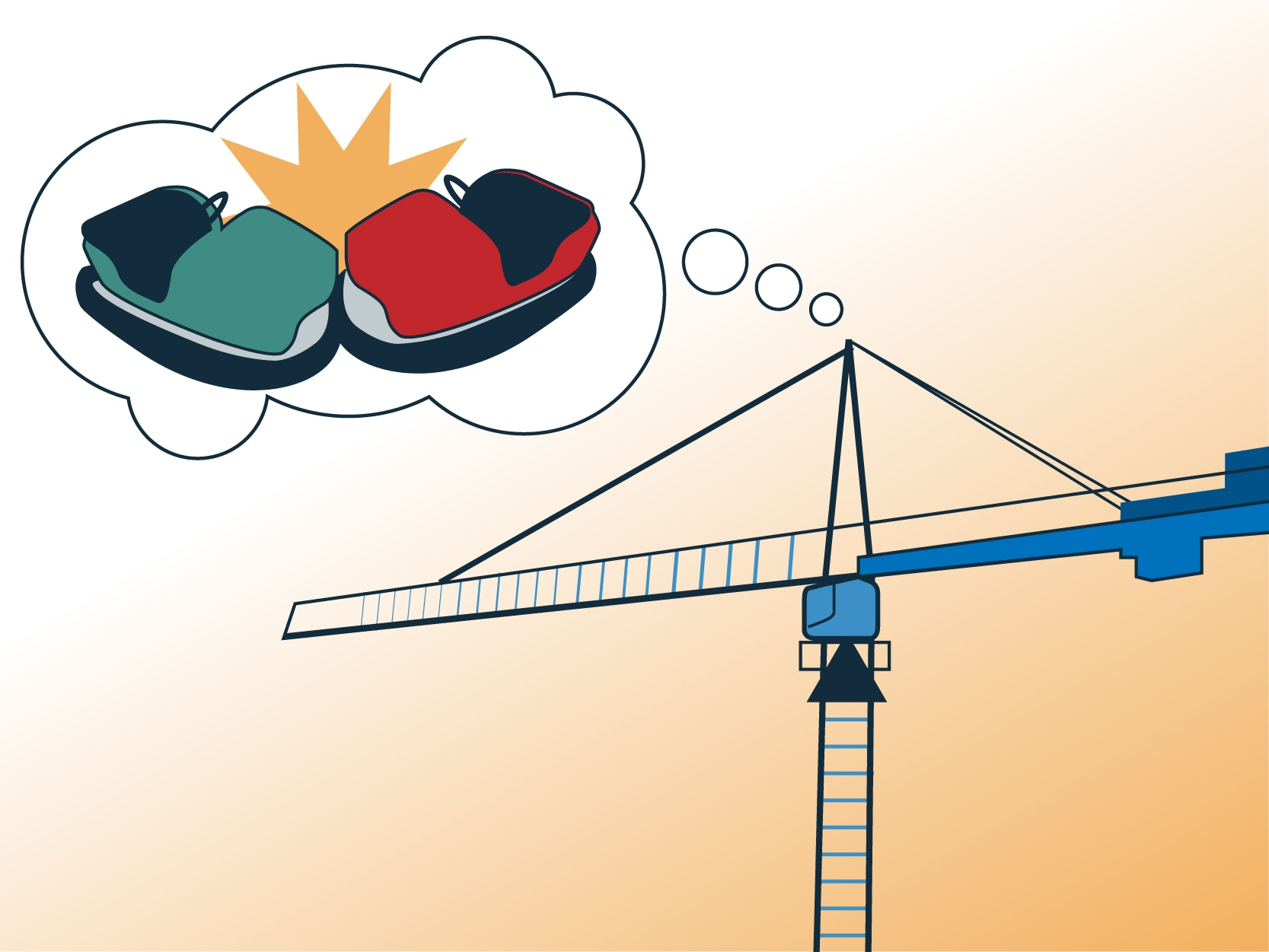 Overhead cranes, trolleys and monorails are not bumper cars